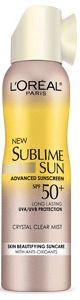 L'Oréal Paris Sublime Sun Advanced Sunscreen SPF 50+ Crystal Clear Mist
