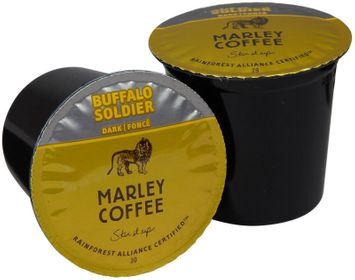 Marley Coffee Single Serve Realcup For Keurig K-Cup Brewers - Buffalo Soldier - 24 ct