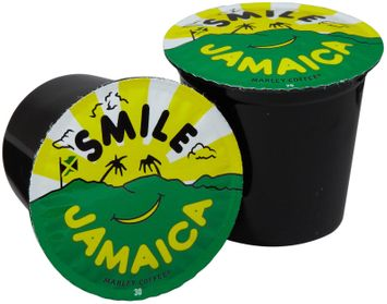 Marley Coffee RealCups - Smile Jamaica (20% Blue Mountain Blend) for K-Cup Brewers 24ct