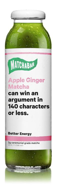 MatchaBar Apple Ginger Matcha Tea