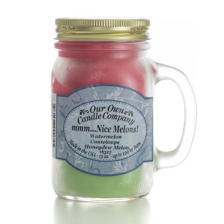 Our Own Candle Company Melon Triple Mason Jar Candle