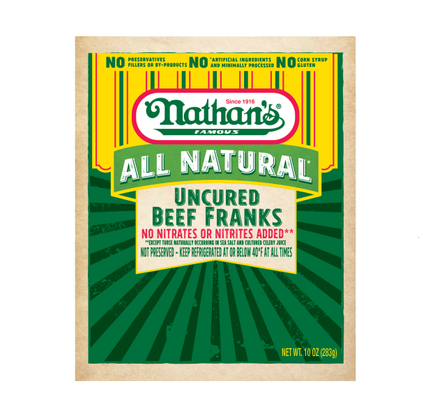 Nathan's Famous All Natural* Uncured Beef Franks