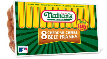 Nathan's Famous Cheddar Cheese Beef Franks