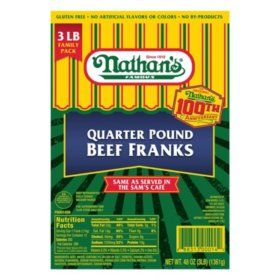 Nathan's Famous Quarter-Pound Beef Franks