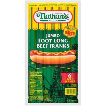 Nathan's Famous Jumbo Foot Long Beef Franks