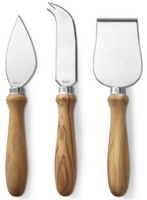 Williams Sonoma Olivewood Cheese Knives, Set of 3