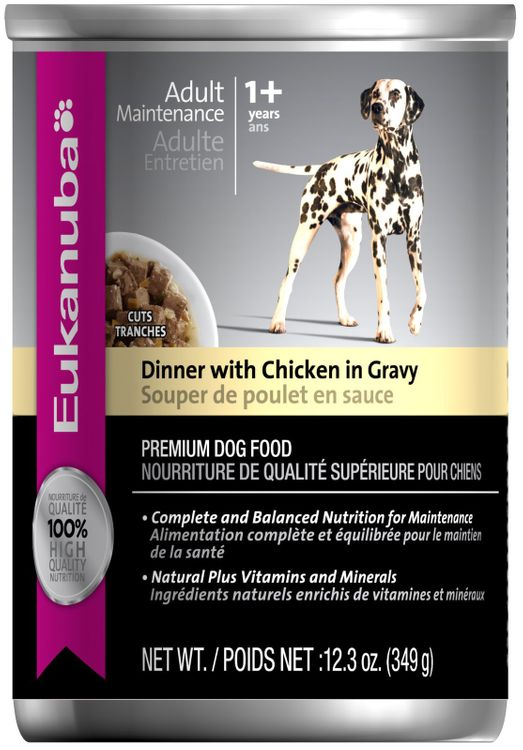 Eukanuba Dog Cut Dinner Chicken/Gravy Canned Dog Food