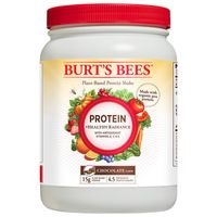 Burt's Bees Plant-Based Protein Powder, Healthy Radiance - Vegetarian Pea Protein, 21.5oz, Chocolate