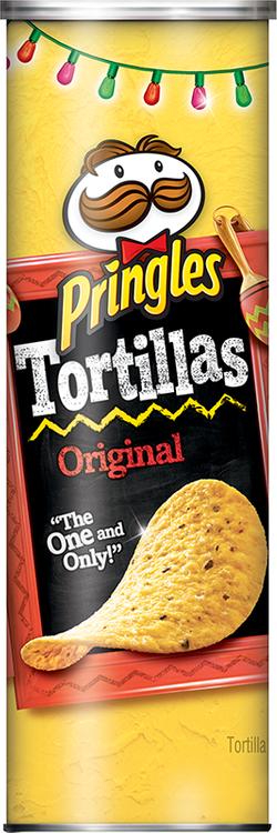 Pringles® Tortillas Truly Original Crispy Corn & Black Bean