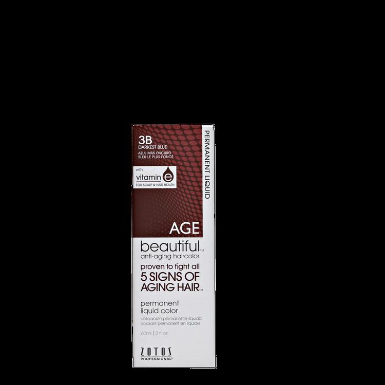 AGEbeautiful Anti-Aging Permanent Liquid Haircolor with Vitamin E 3B Darkest Blue