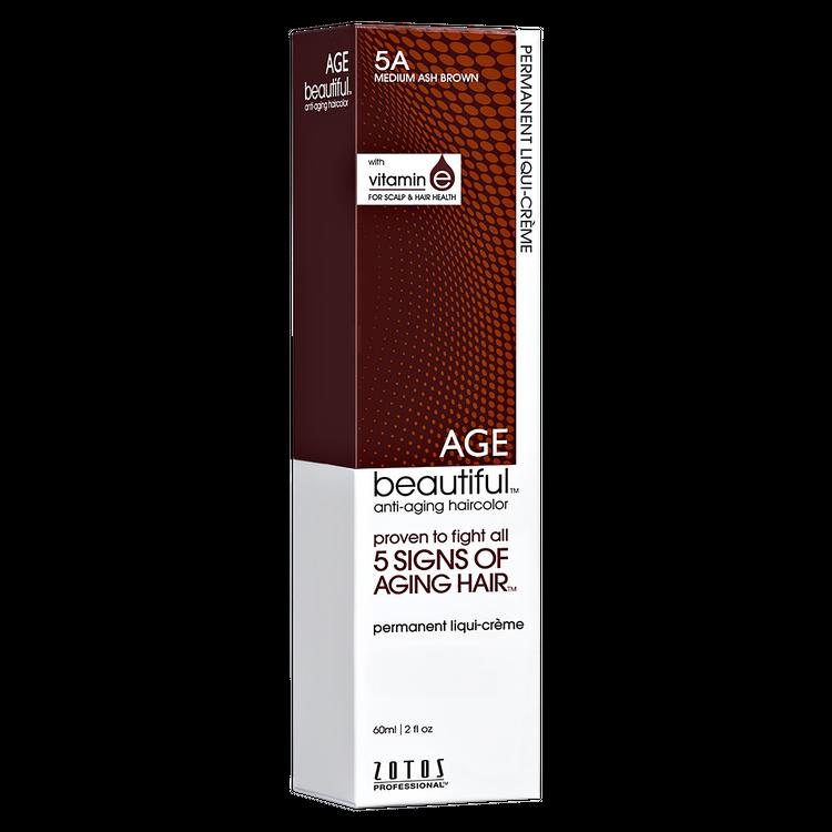 Zotos AGEbeautiful Anti-aging Permanent Liqui-creme Haircolor 5A Medium Ash Brown