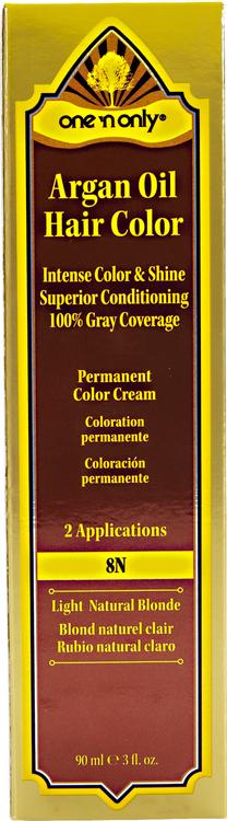 One 'N Only Argan Oil Hair Color 8N Light Natural Blonde