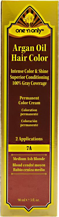 One 'N Only Argan Oil Hair Color 7A Medium Ash Blonde