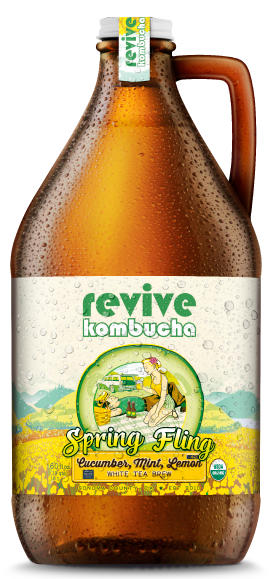 revive kombucha Spring Fling Cucumber Mint & Lemon