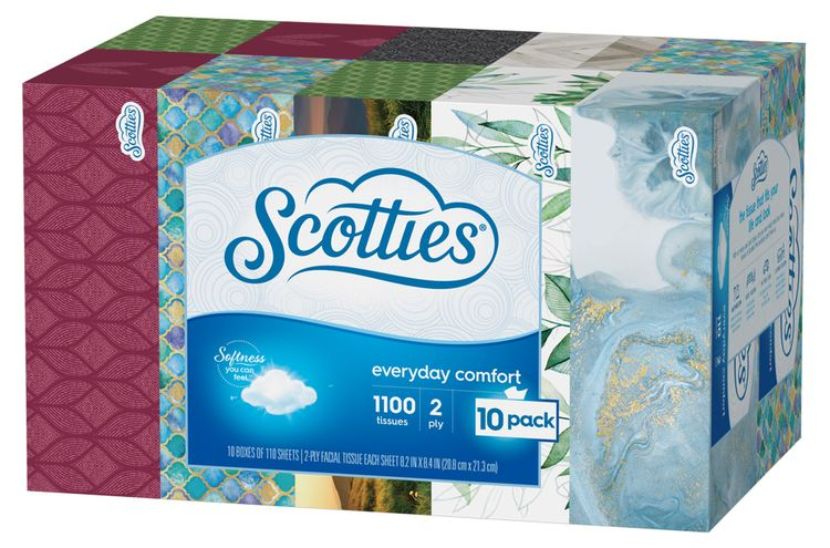 Scotties Everyday Comfort Facial Tissue 2 Ply
