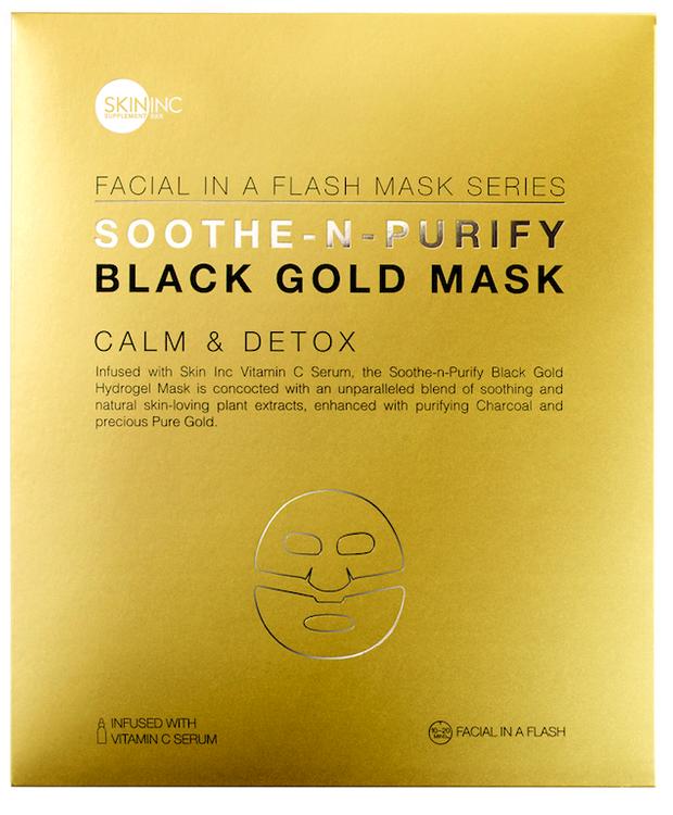 Skin Inc SOOTHE-N-PURIFY BLACK GOLD MASK for calm & detox