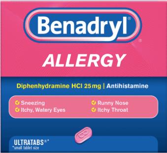 BENADRYL® Allergy ULTRATAB® Tablets