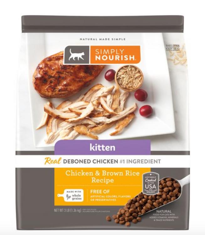 Simply Nourish® Kitten Food - Natural, Chicken & Brown Rice