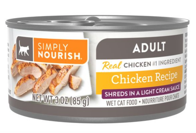 Simply Nourish® Shredded Wet Adult Cat Food - Natural