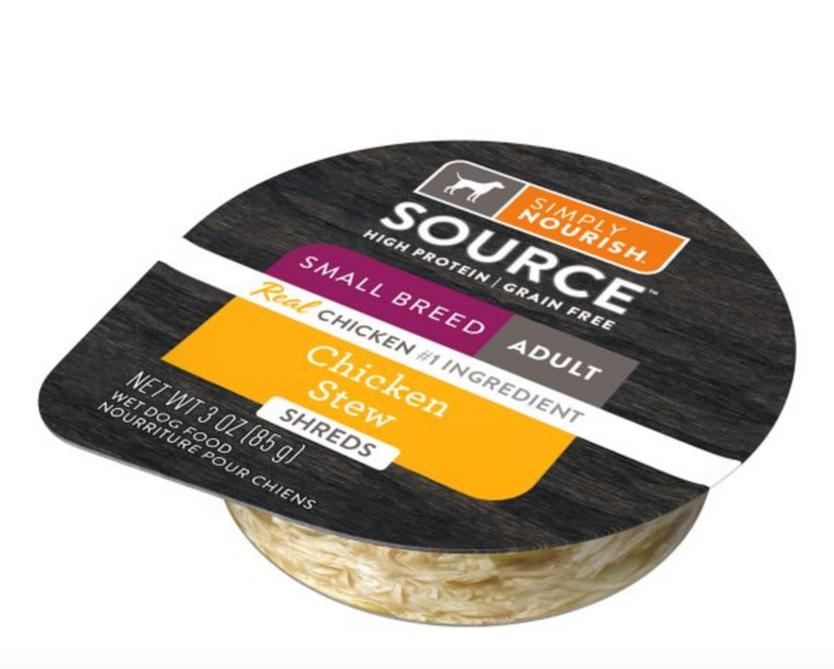Simply Nourish® SOURCE ™Small Breed Shred Wet Dog Food - Natural, High Protein, Grain Free