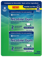 Member's Mark 2 mg Nicotine Polacrilex Gum, Coated Mint Flavor (300 ct.)