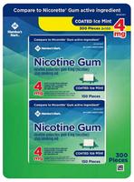 Member's Mark 4 mg Nicotine Polacrilex Gum, Coated Mint Flavor (300 ct.)