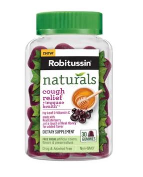 Robitussin Naturals Cough Relief + Immune Health Gummies