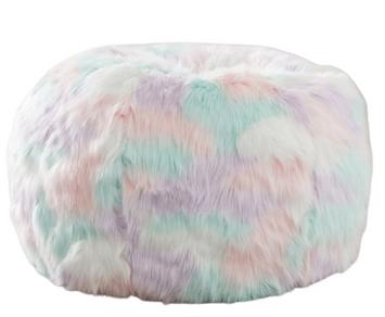 Unicorn Faux-Fur Bean Bag Chair
