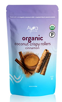 Ava Organics Coconut Crispy Rollers - Cinnamon