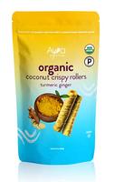 Ava Organics Coconut Crispy Rollers - Turmeric Ginger
