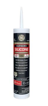 GE Supreme Silicone Kitchen and Bath Clear Silicone Caulk