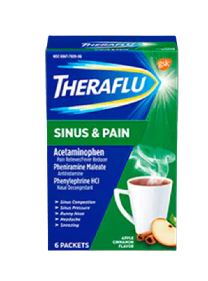 Theraflu® Sinus & Pain Hot Liquid Powder
