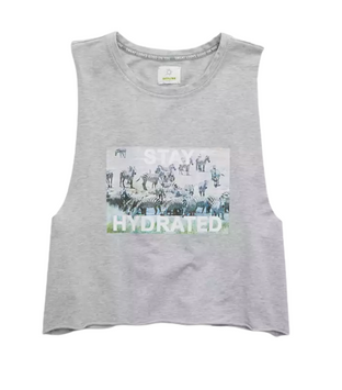Aerie OFFLINE Terry Hydrated Graphic Cropped Tank Top