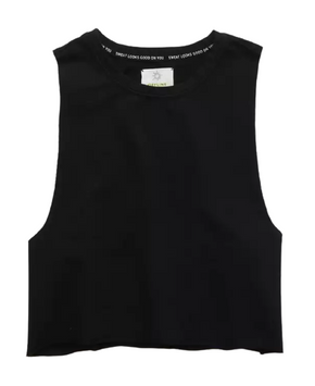 Aerie OFFLINE Terry Cropped Tank Top