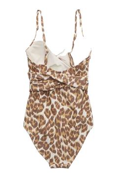 Aerie Leopard Wrap One Piece Suit