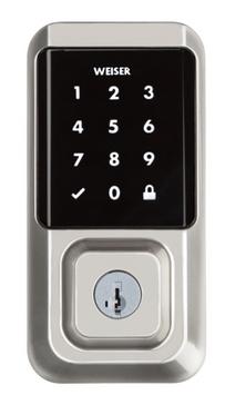 Weiser Lock Halo Touchscreen – Satin Nickel Color