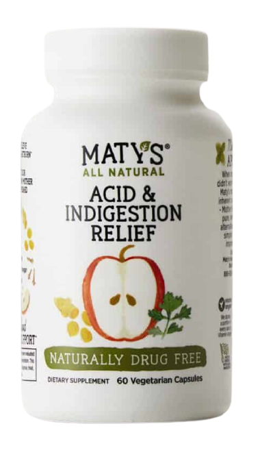 Maty's All Natural Acid & Indigestion Relief Capsules