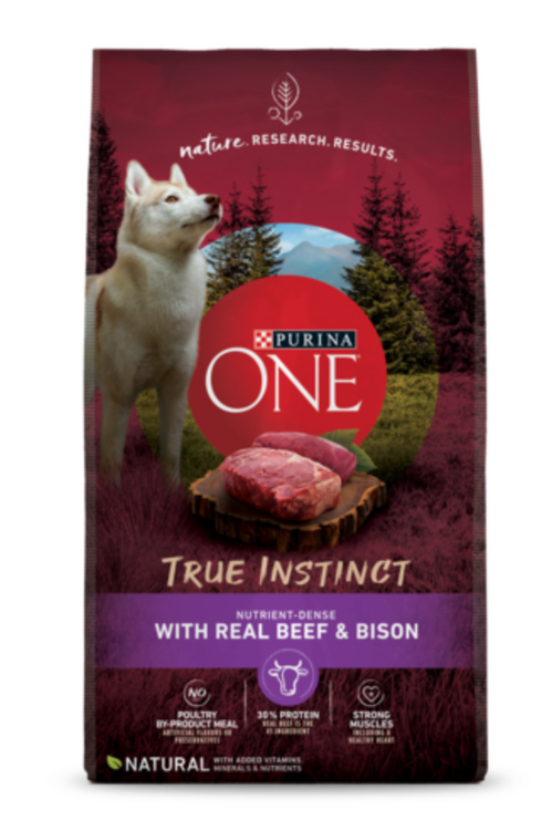 Purina ONE® SmartBlend® True Instinct Grain-Free with Real Beef Dog Food