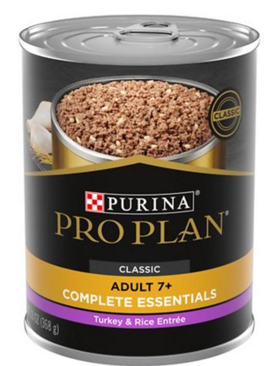 Purina Pro Plan SENIOR Turkey & Rice Wet Dog Food 13oz