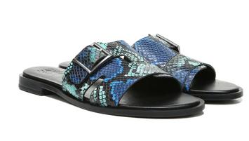 Naturalizer Faryn Slide Sandal - Blue Tropic Snake Print Lthr