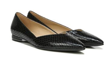 Naturalizer Havana Flat - Black Snake Print Leather