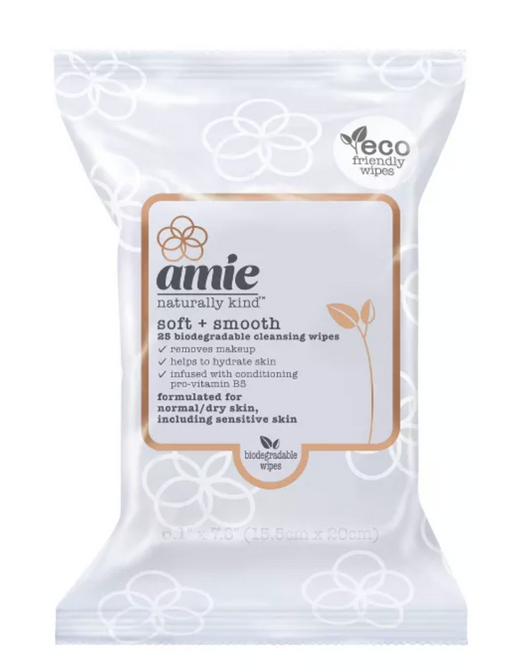 Amie Soft & Smooth Cleansing Wipes - Blue - 25ct