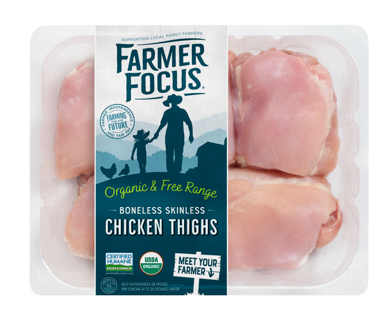 Farmer Focus Boneless Skinless Thighs