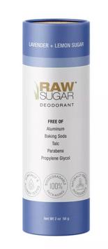 Raw Sugar Deodorant Lavender + Lemon Sugar