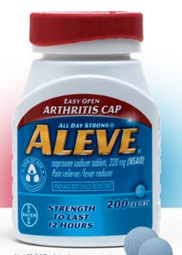 Aleve Tablets Easy Open Arthritis Cap