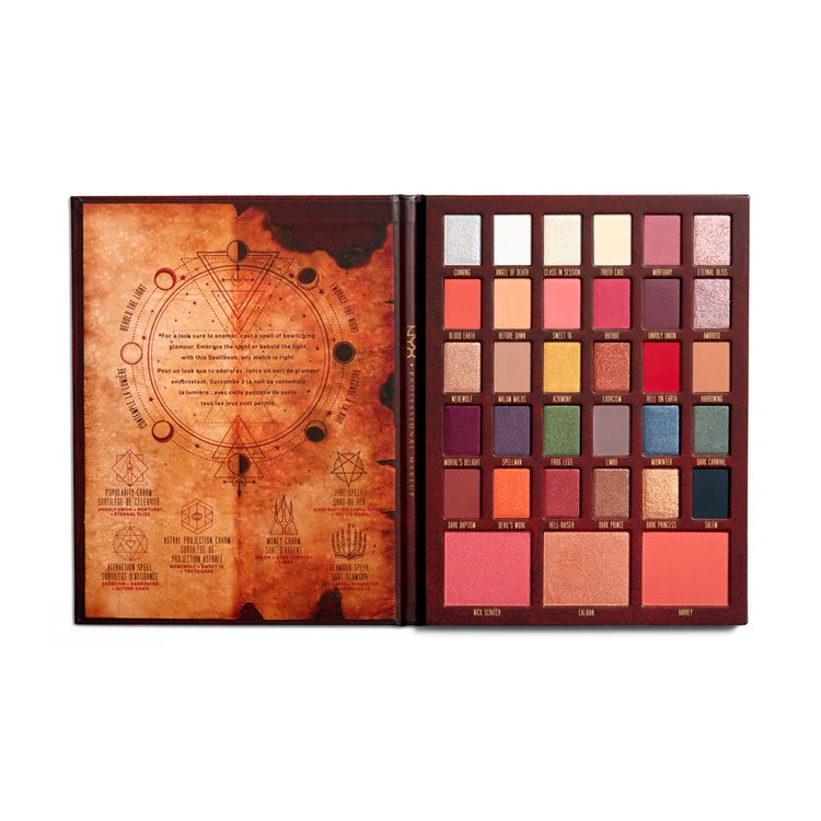 Nyx Cosmetics Chilling Adventures Of Sabrina Spell Book Palette Limited Edition