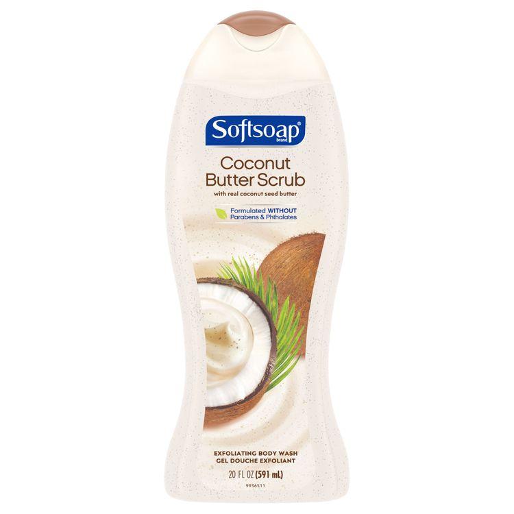 Softsoap® Exfoliating Body Wash, Body Scrub Coconut Butter