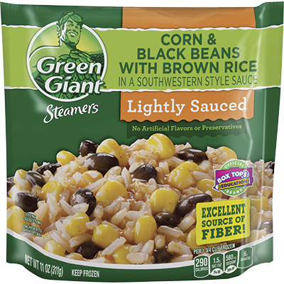 Green Giant® Steamers Southwestern Style Black Beans With Corn And Brown Rice