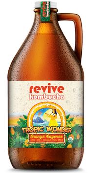 revive kombucha Tropic Wonder Earl Grey & Orange Peel Brew