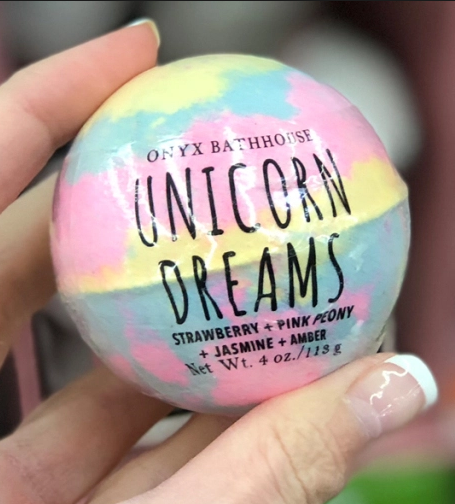 Onyx Bathhouse Unicorn Dreams Bath Bomb